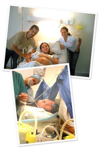 Ana, bebé Emilio y Emilio.